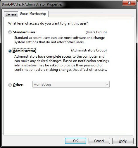 how to make a user account an administrator account in windows 7