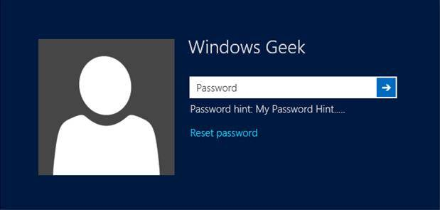 how to change user password on windows 8