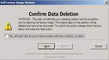 dell restore to factory image