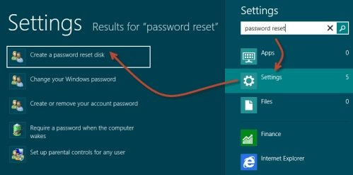 create a hp password reset disk