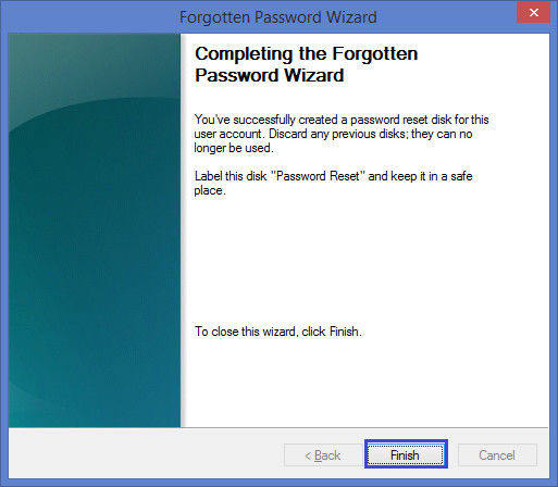 finish password resetting