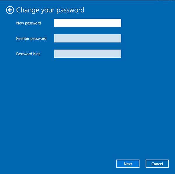 new password hint