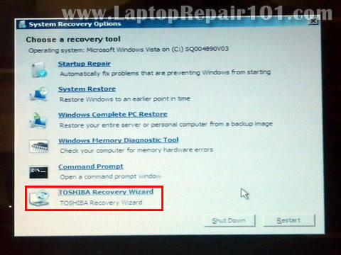 Wipe toshiba laptop