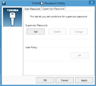 TOSHIBA SATELLITE P875 SUPERVISOR PASSWORD DRIVER FOR PC