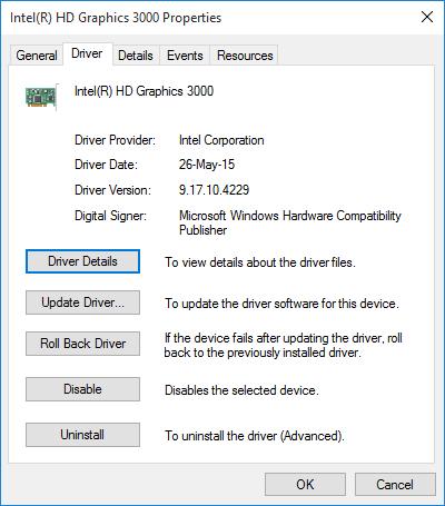 uninstall graphics driver