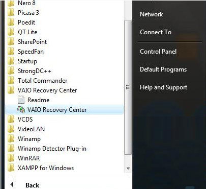 sony vaio laptop recovery disk download free