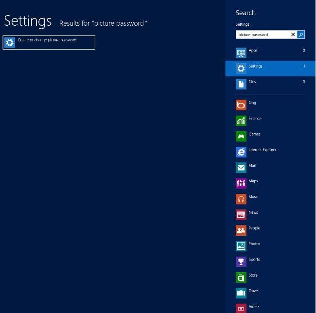 create picture password in windows 8