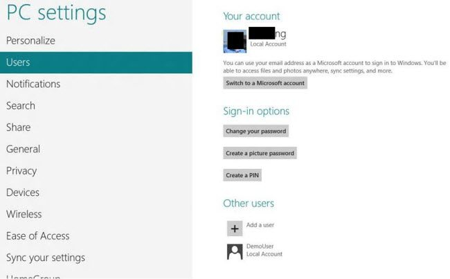 create picture password windows 8