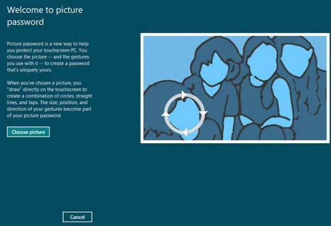 create a picture password in windows 8
