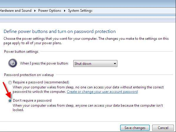 turn off windows 7 sleep password