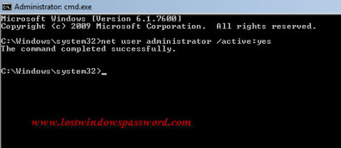 windows 7 home premium built-in administrator account enable or disable