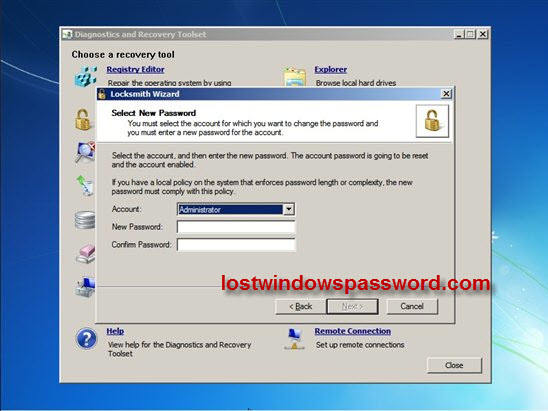 ERD Commander for recovering administrator password|forgot