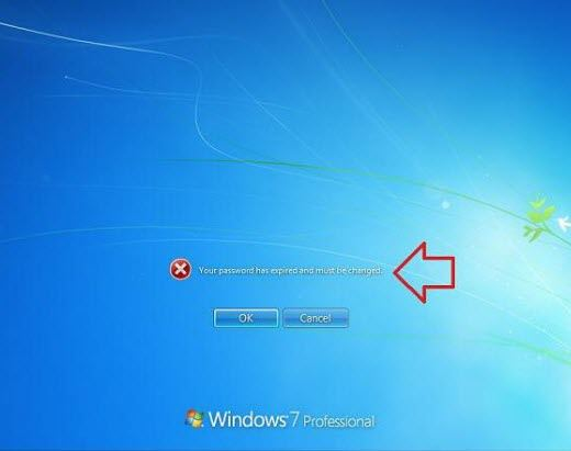 disable password expiration windows 7