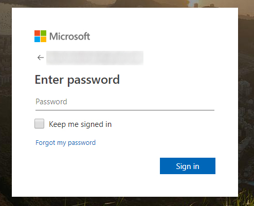 enter current password
