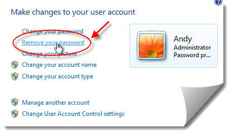 windows 7 password removal