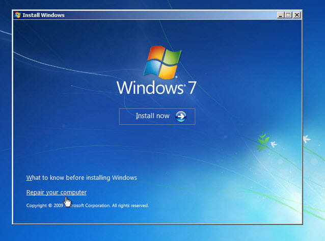 crack windows 7 password without disk