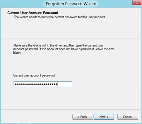 create password reset disk win 8