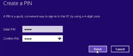 create password to protect windows 8