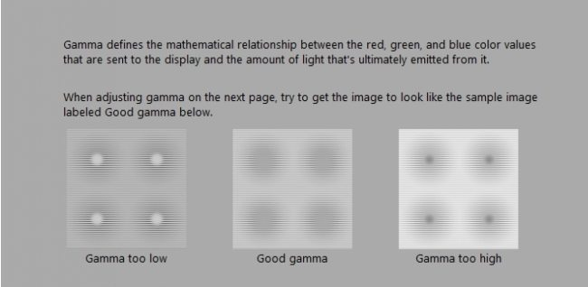 adjust display gamma