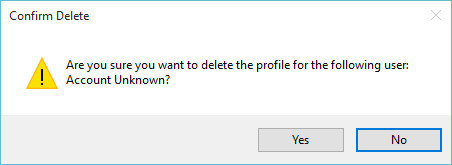 are you sure you want to delete the profile