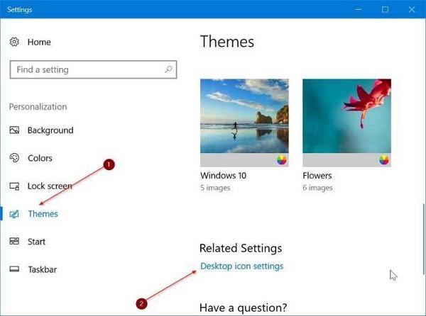 change Windows 10 desktop icons