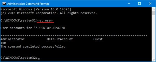 change password using command prompt1