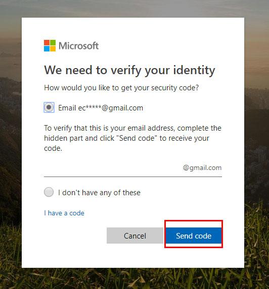 click send code
