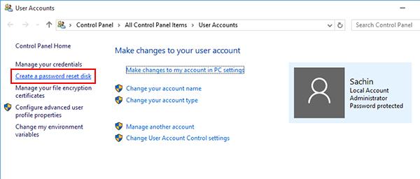 control panel user accounts