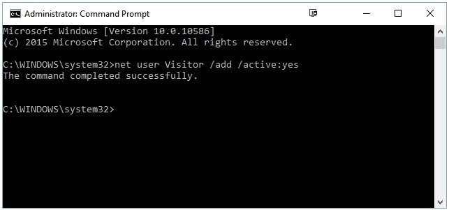 how to add guest account windows 10