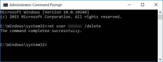 delete user account command prompt