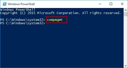 device manager with powershell