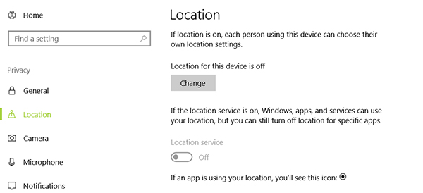 disable location