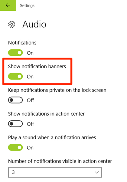 disable notification banners