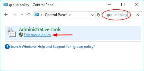 edit group policy link