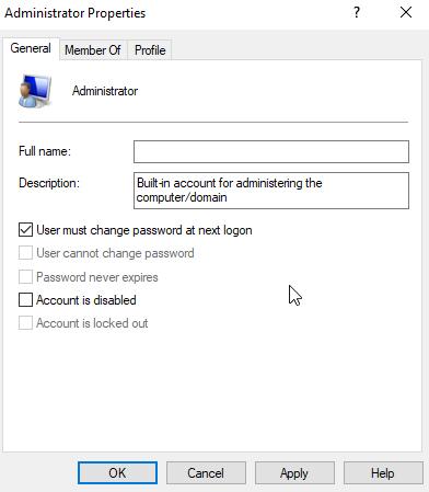 enable account