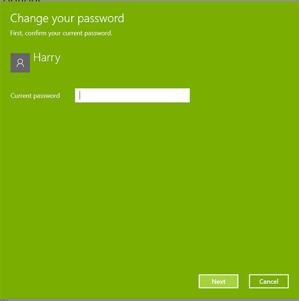 enter current password