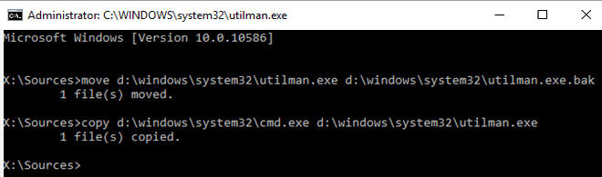 Reset windows 10 through command prompt