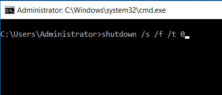 fully shutdown