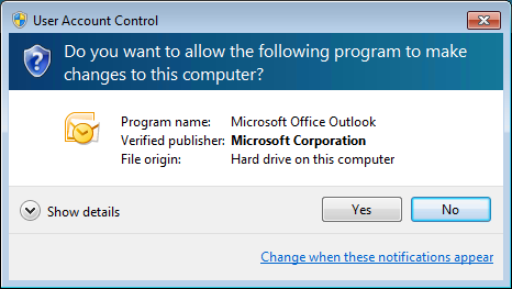 allow windows 7 program making changes to dell computer