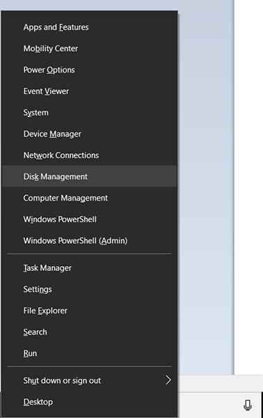 open disk management