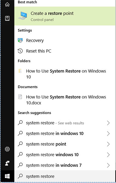 open system restore
