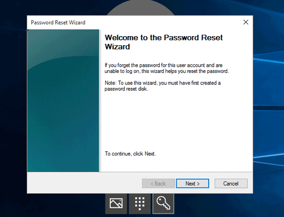 reset toshiba login password