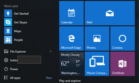 power options missing windows 10