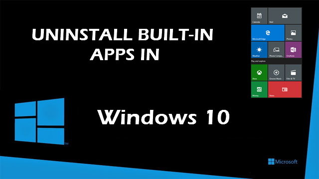remove built-in apps in windows 10