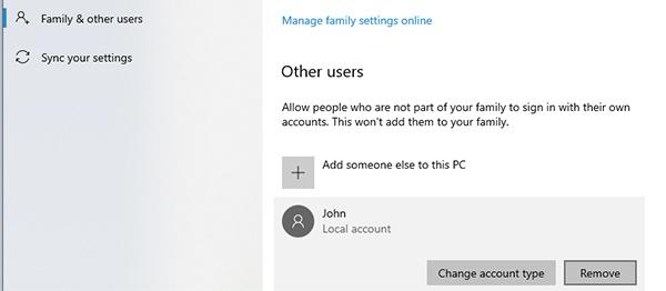 remove user