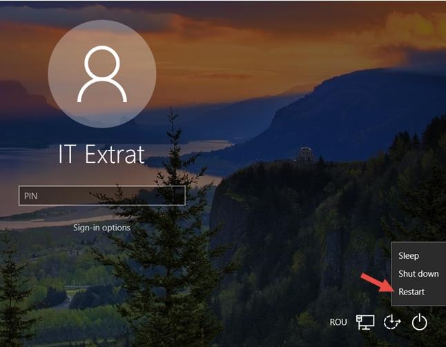 restart from start screen