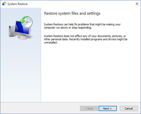 restore system