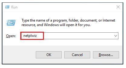 netplwiz disable password