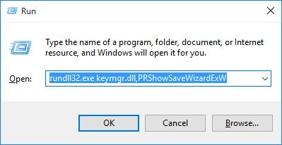 run password reset wizard
