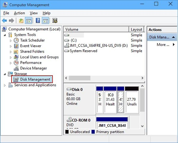 select-disk-management